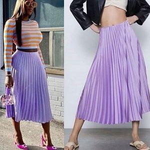 ZARA Pleated skirt lilac